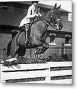 Rider Jumps At Horse Show Metal Print
