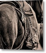Riding For The Brand Metal Print