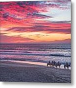 Riding In The Sunset Metal Print