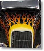 Riding The Flame Metal Print