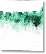 Rio De Janeiro Skyline In Watercolor On White Background Metal Print