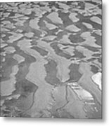 ripples in wet sand Playa De Las Teresitas North Tenerife Canary Islands Spain Metal Print
