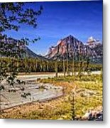 River And Mountains In Jasper Metal Print