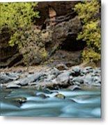 River Flowing Through Rocks, Zion Metal Print