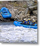 River Rafting Metal Print