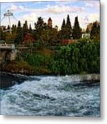 Riverflow Metal Print by Dan Quam