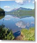 Rock Lake Alberta Canada And Willmore Wilderness Metal Print