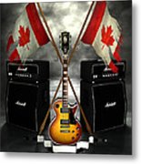 Rock N Roll Crest - Canada Metal Print by Frederico Borges