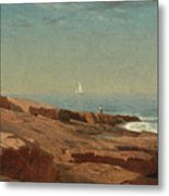 Rocks At Narragansett Metal Print