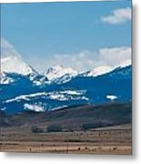 Rocky Mountains Road Metal Print