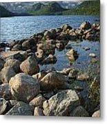 Rocky Shoreline In Acadia National Park Metal Print