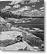 Rocky Summer Seascape Acadia National Park Photograph Metal Print