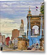 Roebling Bridge 9872 Metal Print
