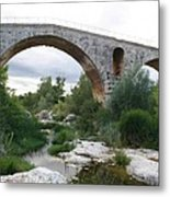 Roman Arch Bridge Pont St. Julien Metal Print