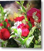 Roses In The Rain Metal Print