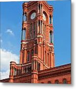 Rotes Rathaus The Town Hall Of Berlin Germany Metal Print