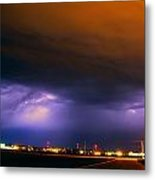 Round 2 More Late Night Servere Nebraska Storms Metal Print