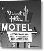 Route 66 - Desert Hills Motel Metal Print