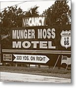 Route 66 - Munger Moss Motel Sign Metal Print