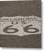 Route 66 - Oklahoma Shield Metal Print