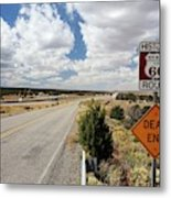 Route 66 Sign Metal Print