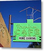 Route 66 - Uranium Cafe Metal Print