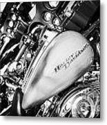 Row Of Harley Davidson Street Glide Motorbikes Outside Motorcycle Dealership Orlando Florida Usa Metal Print