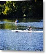 Rowing In Philadelphia Metal Print by Bill Cannon