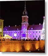 Royal Castle In Warsaw At Night Metal Print