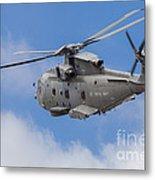 Royal Navy Eh-101 Merlin In Flight Metal Print