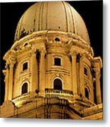 Royal Palace Dome In Budapest Metal Print