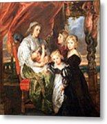 Rubens' Deborah Kip -- Wife Of Sir Balthasar Gerbier -- And Her Children Metal Print