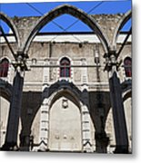 Ruins Of Carmo Convent In Lisbon Metal Print
