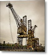 Rusty Cranes At Battersea Power Station Metal Print