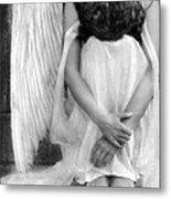 Sad Angel Woman Metal Print