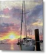 Sailboat Metal Print by Jon Neidert