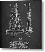 Sailboat Patent Drawing From 1938 Metal Print