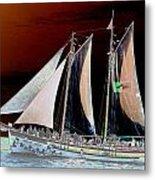 Sailing In Hope Metal Print