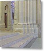 Saint John The Divine Cathedral Columns Metal Print