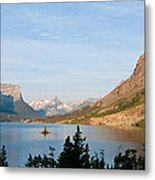 Saint Mary Lake And Wild Goose Island Metal Print