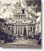 Saint Peters Basilica Rome Metal Print