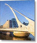 Samuel Beckett Bridge Dublin Metal Print