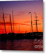 San Diego Harbor Sunset Metal Print