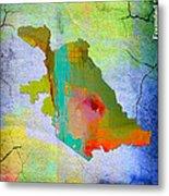 San Jose Map And Skyline Metal Print