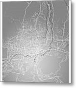 San Salvador Street Map - San Salvador El Salvador Road Map Art  Metal Print