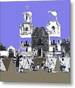 San Xavier Mission Sketched By Art Students C. 1930 Tucson Arizona Metal Print