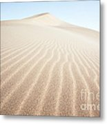 Sand Dunes In The Desert At Sunrise Dunhuang China Metal Print