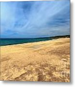 sandy beach in Piscinas Metal Print