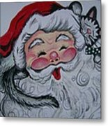 Santa And Company Metal Print