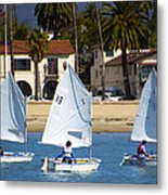 Santa Barbara Harbor Yacht Race Metal Print